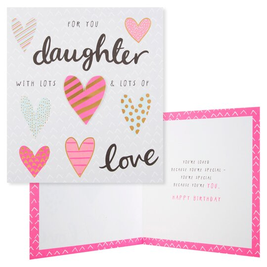 Surprising Tesco Birthday Card Daughter With Lots Lots Of Love Tesco Funny Birthday Cards Online Inifodamsfinfo