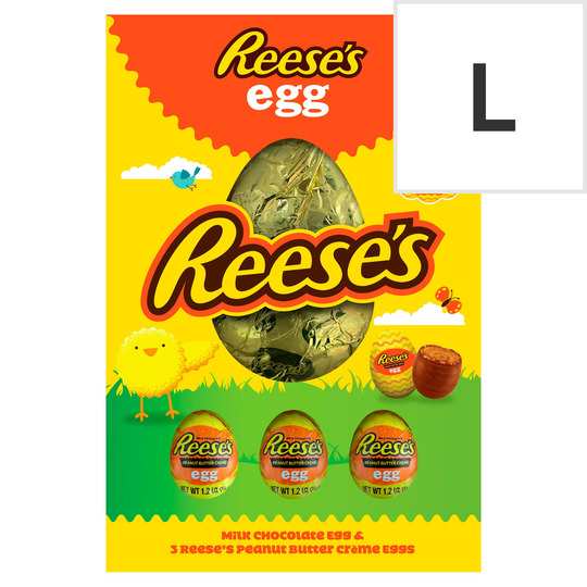 Reese's Milk Chocolate Egg With 3 Peanut Butter Creme Eggs 232G