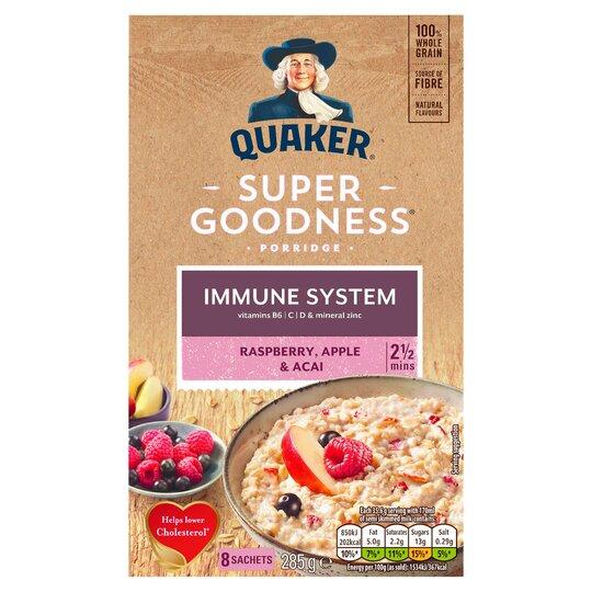 Quaker Oat Super Fruit Raspberry, Apple &Acai Porridge 285G