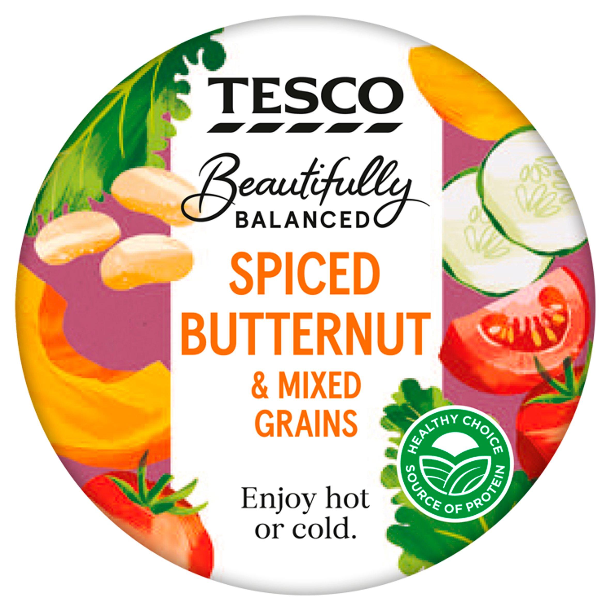 Tesco Beautifully Balanced Spiced Butternut & Mixed Grains 215G