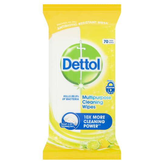 Dettol Multi Purpose Citrus Wipes 70S