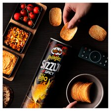 image 2 of Pringles Sizzl'n Spicy Bbq Crisps 180G