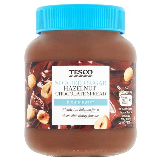 Tesco No Added Sugar Hazelnut Chocolate Spread 400g
