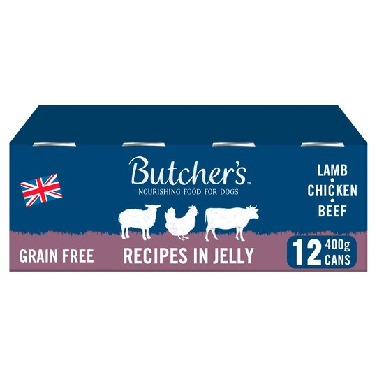 Butcher's Meaty Recipe In Jelly Dog Food 12X400g