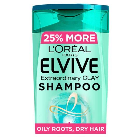 L'oreal Elvive Clay Oily Roots Shampoo 500Ml