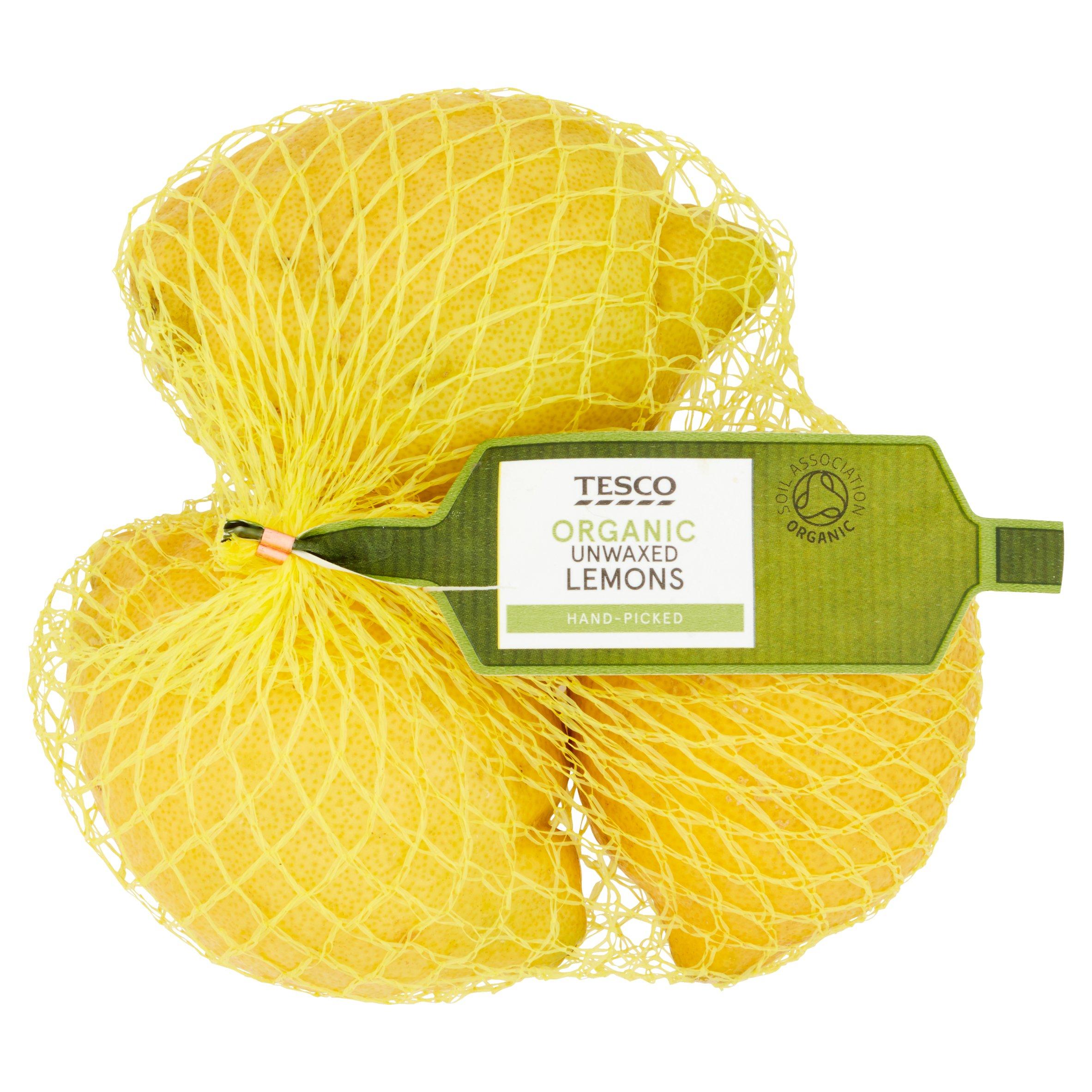Tesco Organic Unwaxed Lemons Minimum 3 Pack