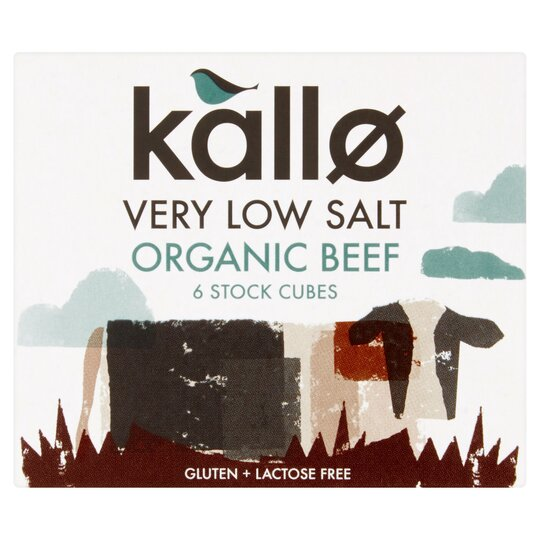 Kallo V Low Salt Stock Cubes Beef 48G