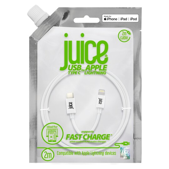 Juice 2M White Type C To Lightning