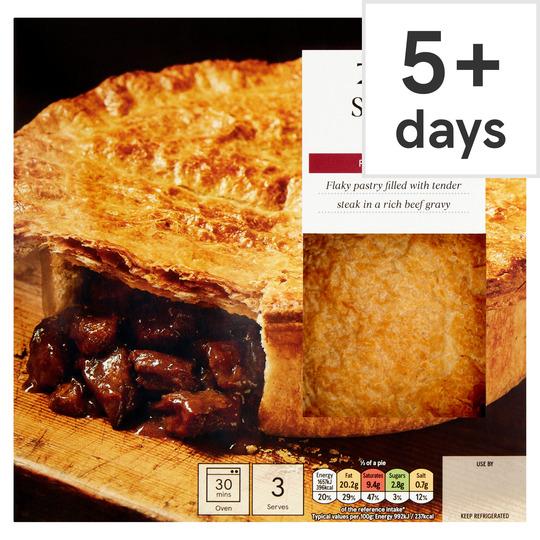 Tesco Steak Puff Pastry Pie 500G - Tesco Groceries