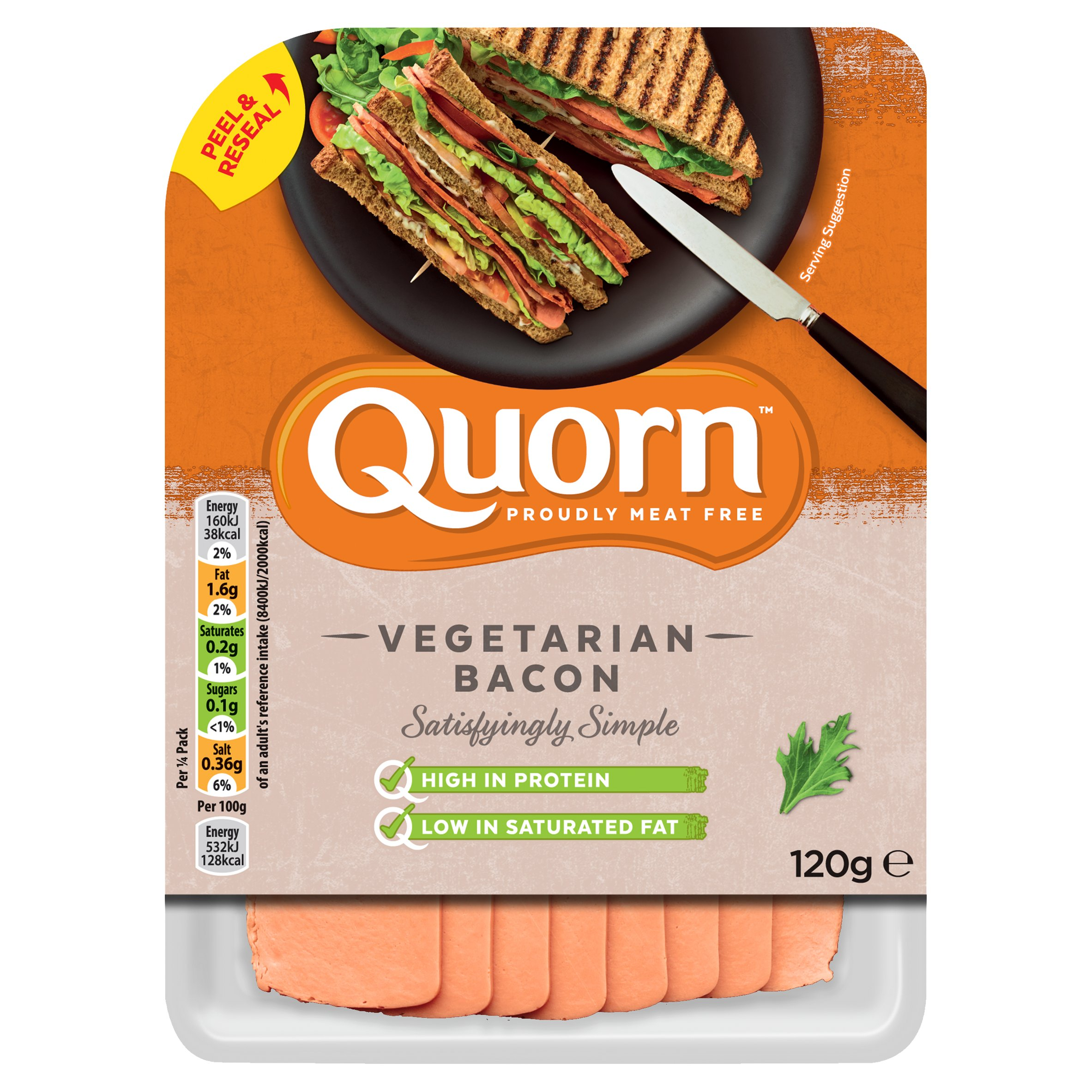 Quorn Bacon Style Rashers 120G