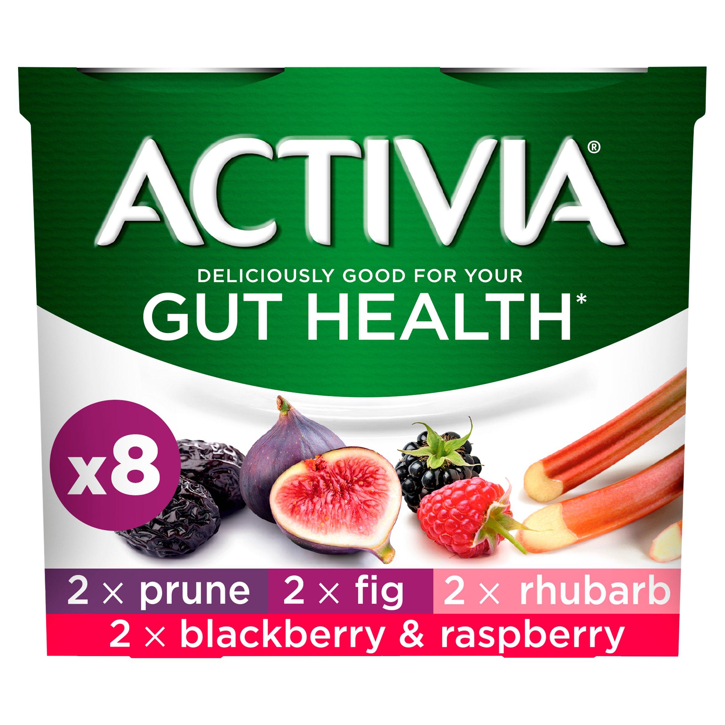 Activia Rhubarb & Mixed Fruit Yogurt 8X115g