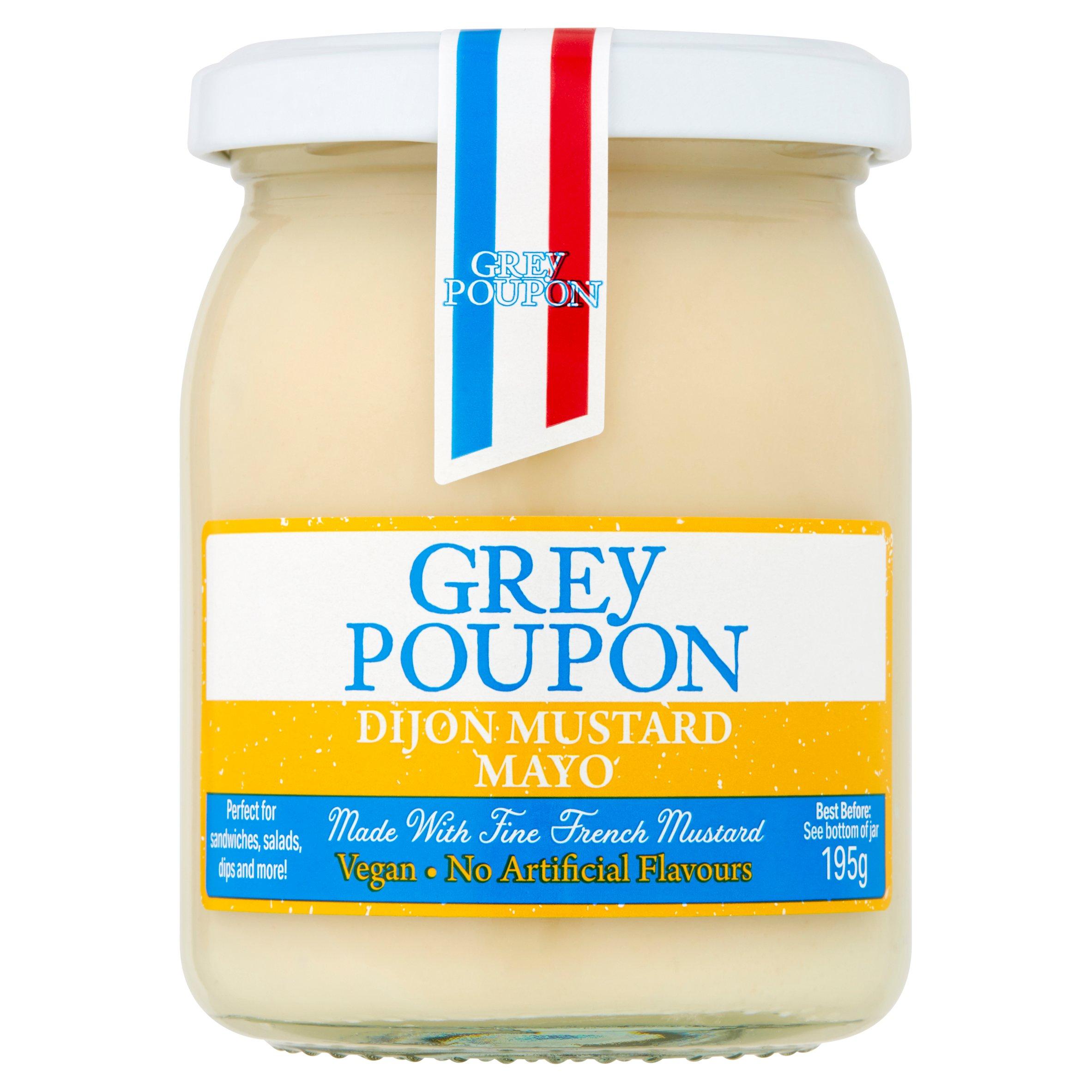 Grey Poupon Dijon Mustard Vegan Mayonnaise 195G