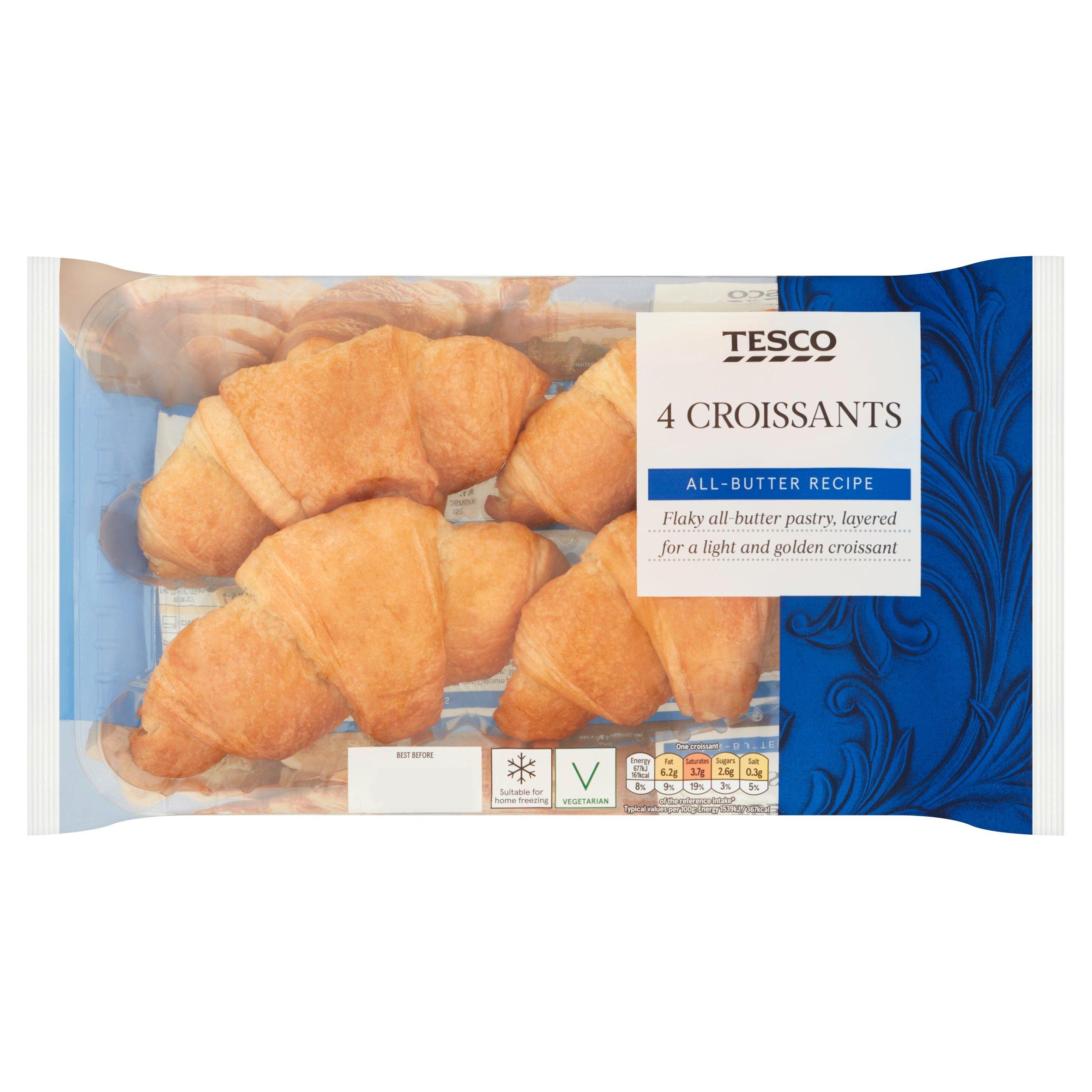 Tesco 4 All Butter Croissants