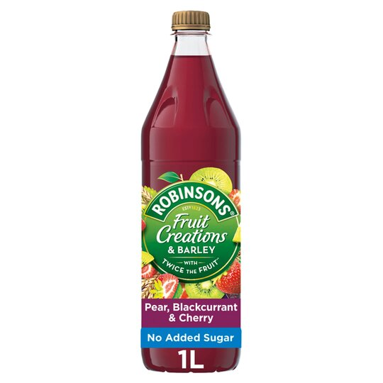 Robinsons Fruit Creations Pear Blackcurrant & Cherry 1L