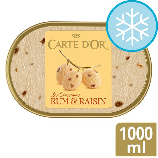 image 1 of Carte D'or Rum & Raisin Ice Cream 1 L