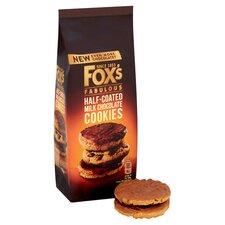image 2 of Fox's Half Coated Milk Chocolate Cookies 175G