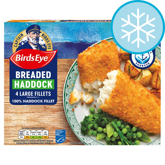 Birds Eye 4 Large Breaded Haddock 440G