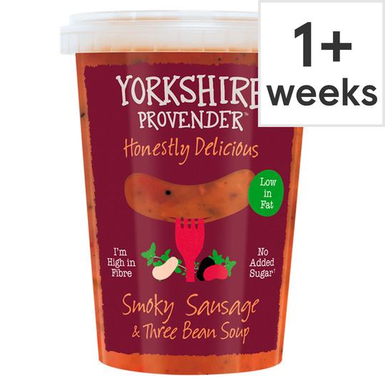Yorkshire Provender Smokey Sausages & 3 Bean Soup 600G