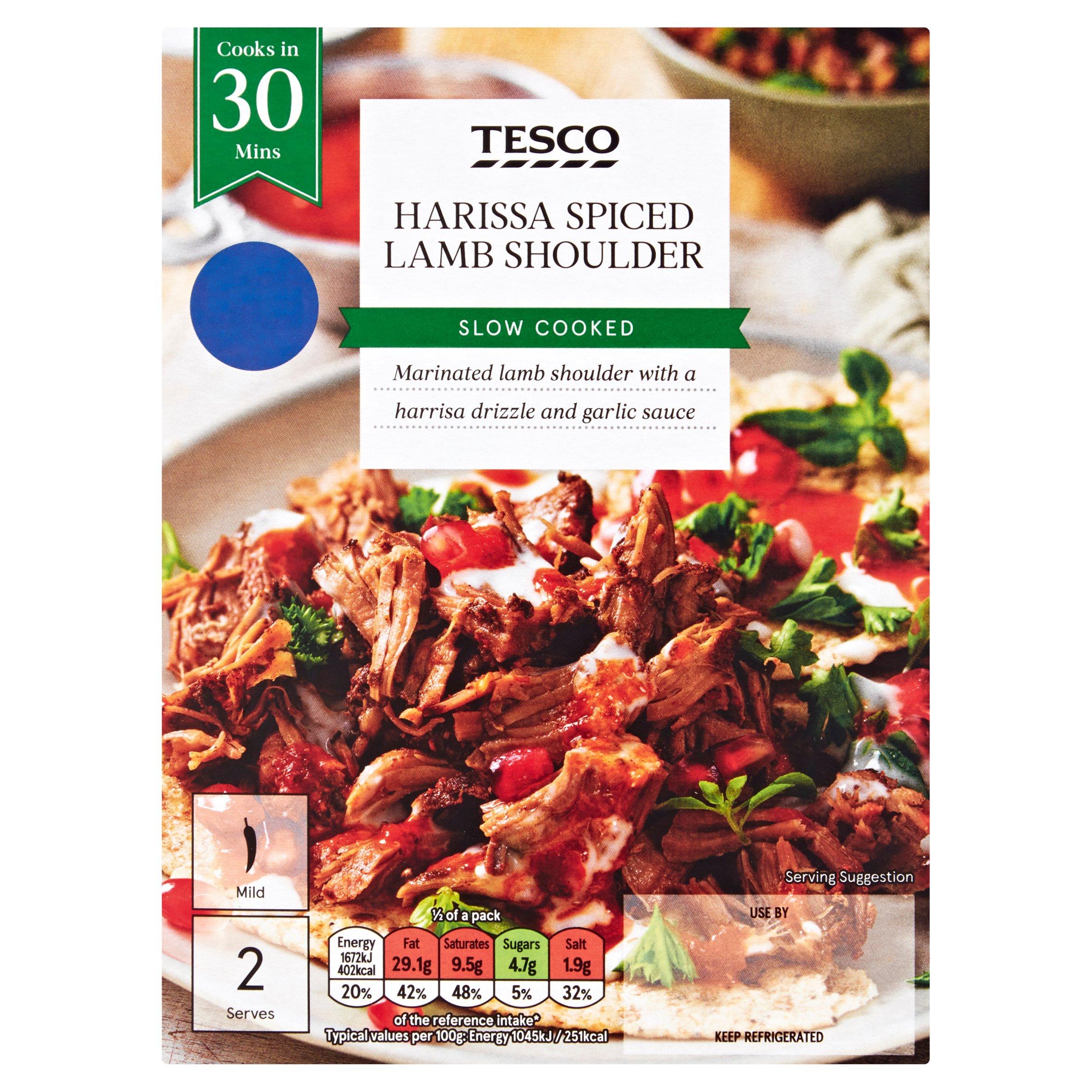 Tesco Harissa Spiced Lamb Shoulder 400G
