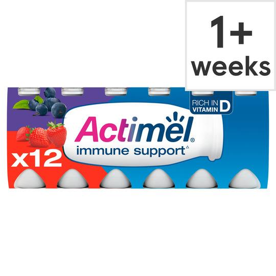 image 1 of Actimel Strawberry Blueberry 12X100g