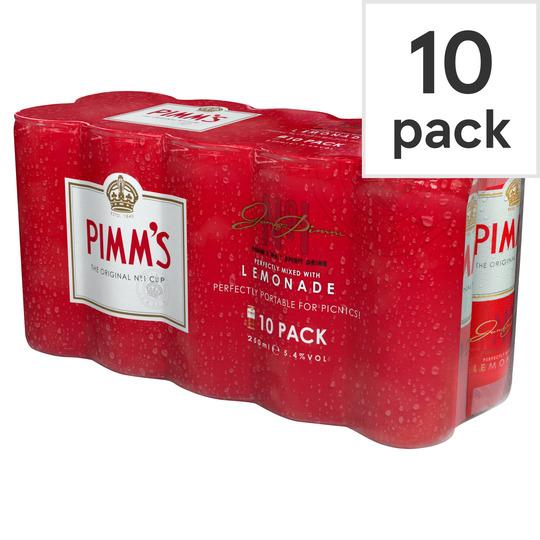image 1 of Pimm's & Lemonade 10 X 250Ml