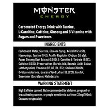 image 2 of Monster Origin Energy Drink 4 X 500Ml