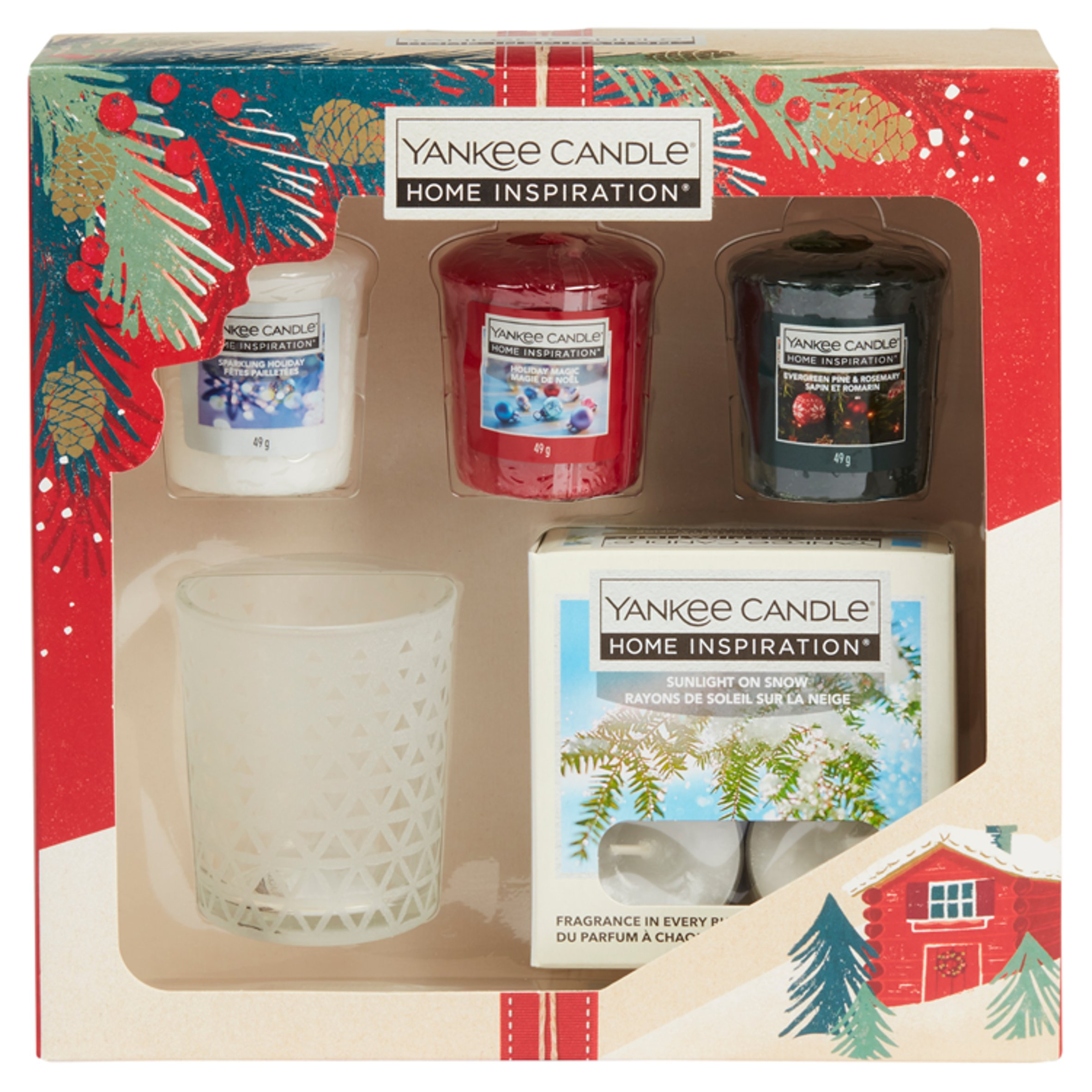 Personalised Yankee Candle Box Personalised  Candle And Tea Light Holders Xmas