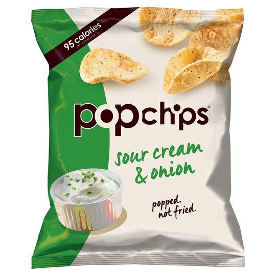 Popchips Sour Cream & Onion Potato Chips 23G