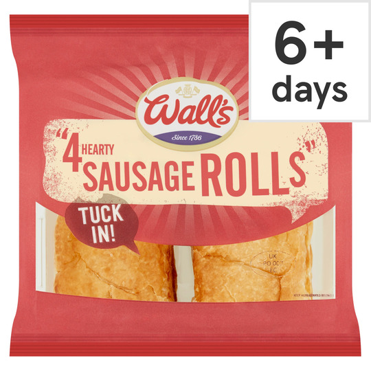 image 1 of Walls 4 Hearty Sausage Rolls 220G