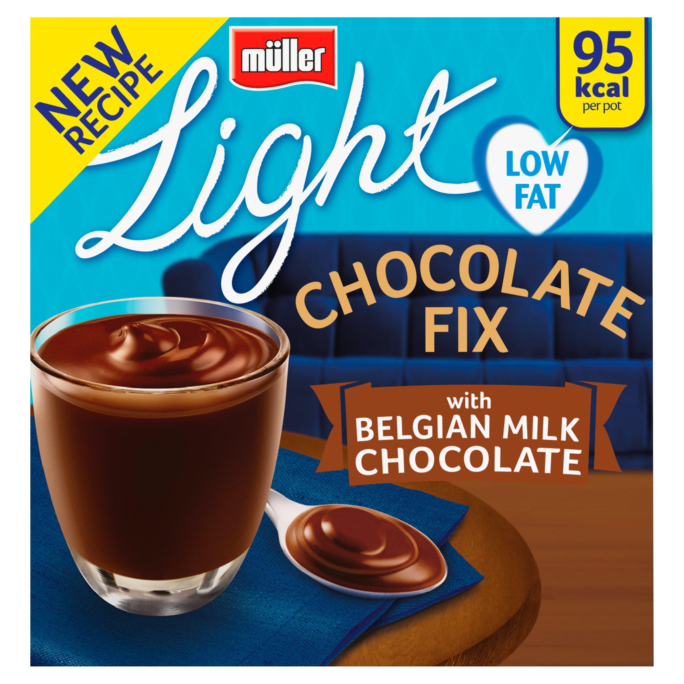 Muller Light Chocolate Fix Milk Chocolate 4 Pack 400G