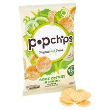 image 2 of Popchips Sour Cream & Onion Potato Chips 85G