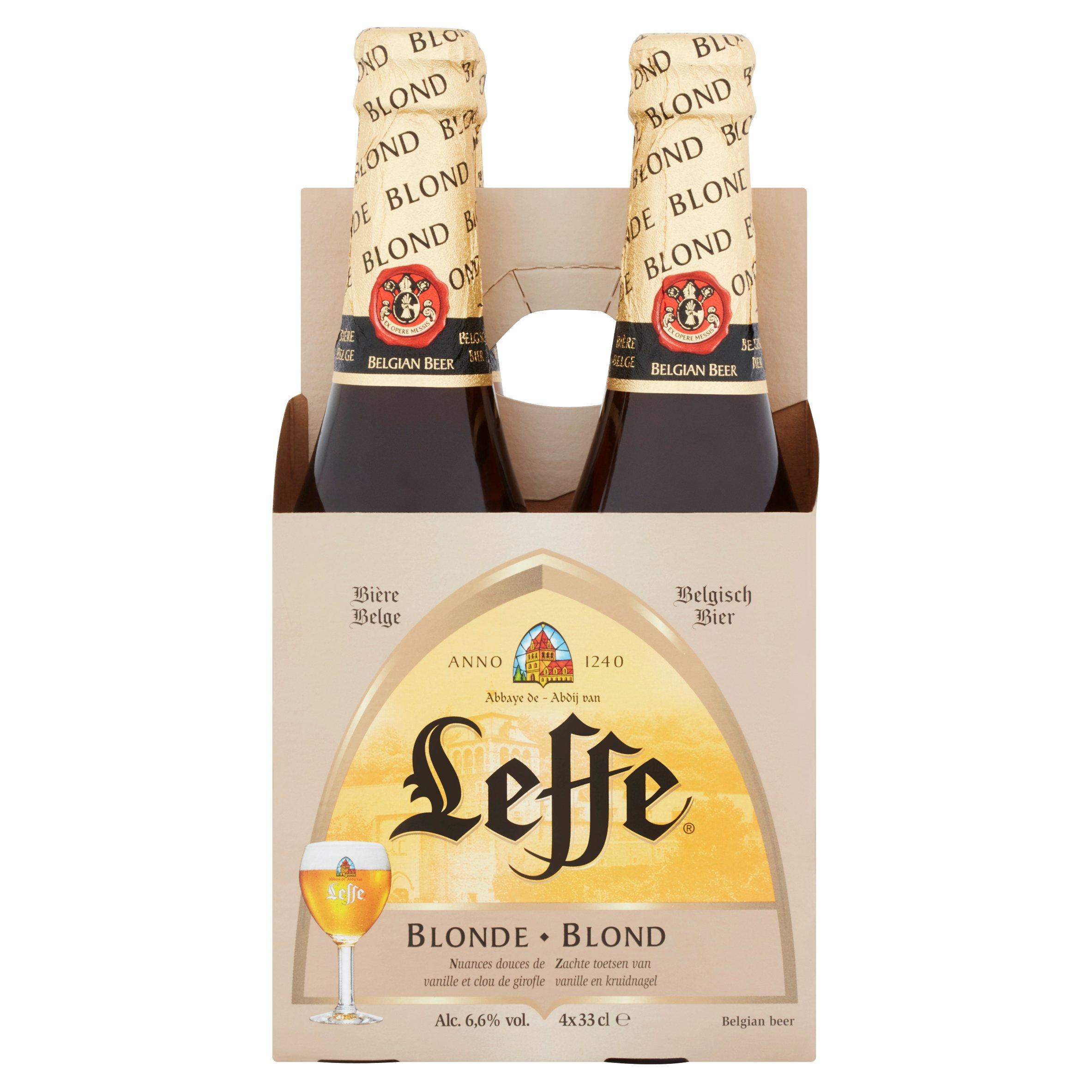 Leffe Blonde 4X330ml Bottle Belgium Speciality