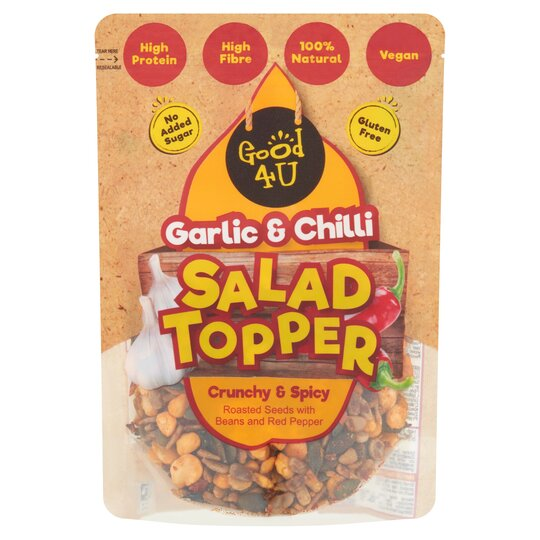 Good4u Protein Salad Topper Garlic & Chilli 125G