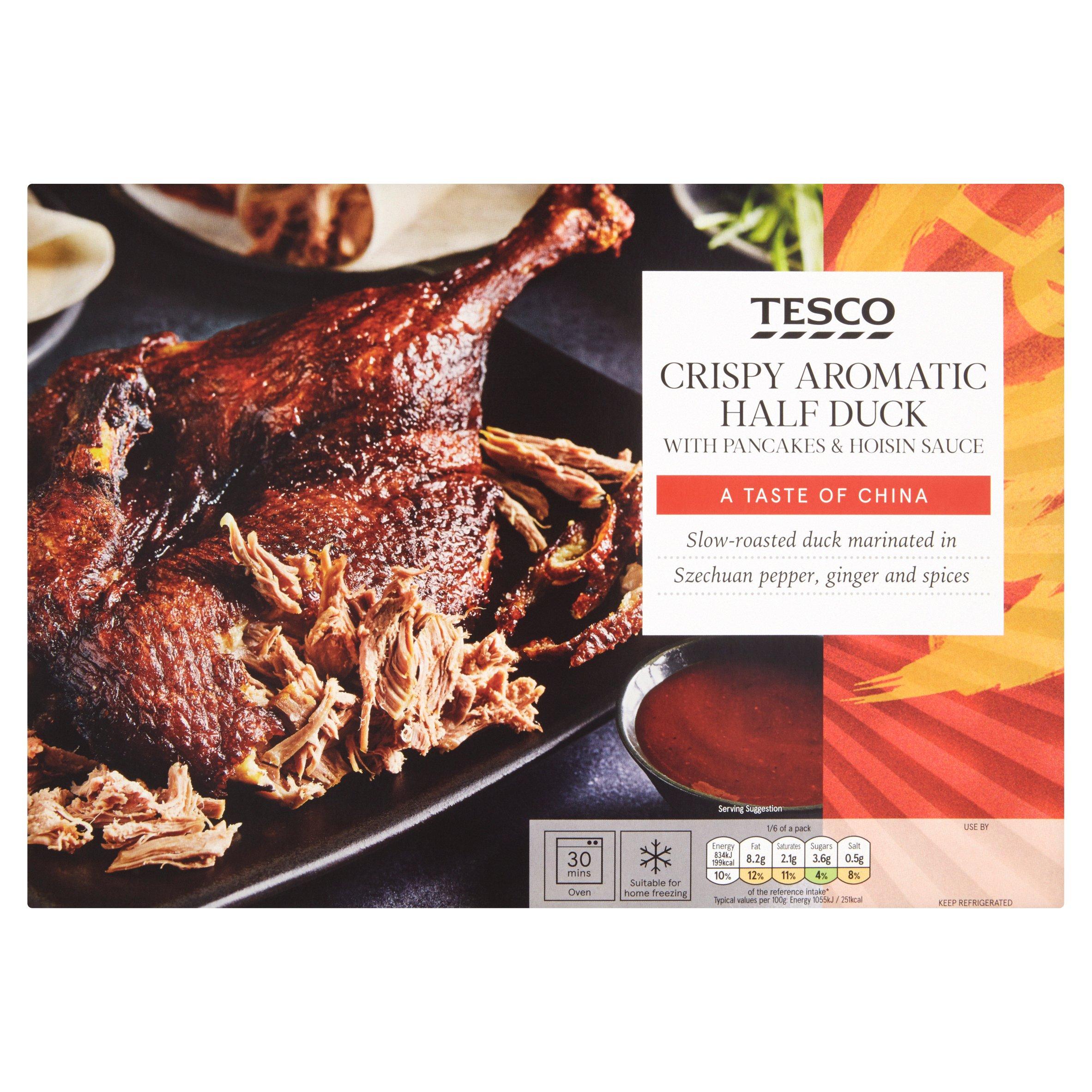 Tesco Crispy Aromatic Half Duck 510G