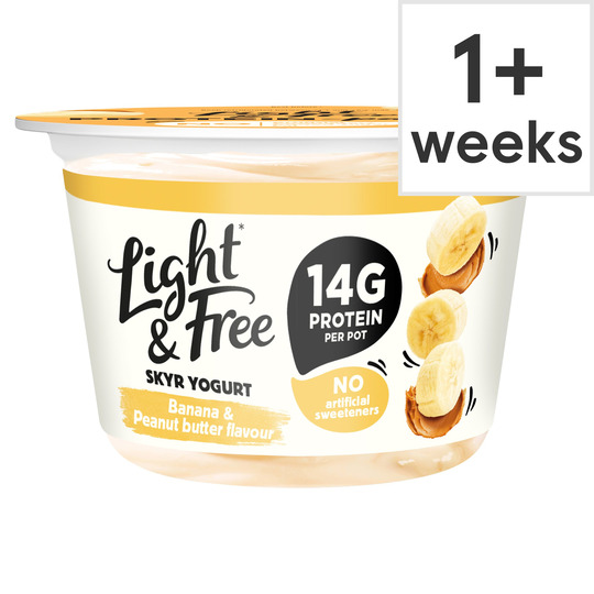 Light & Free Skyr Yogurt Banana & Peanut Butter Flavoured 150G