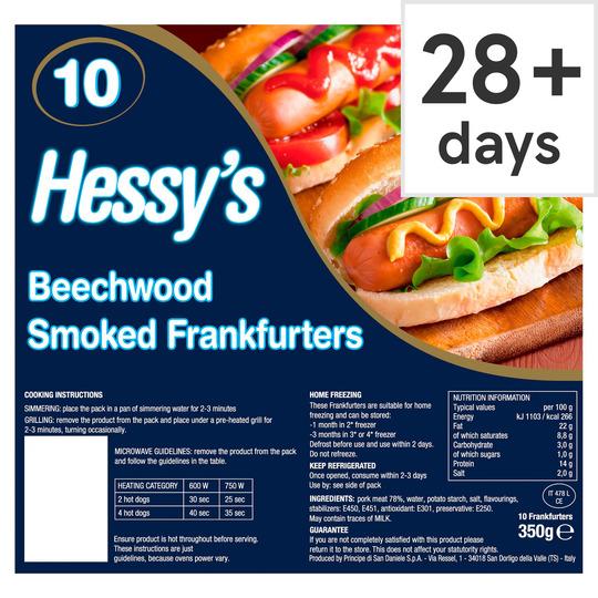Hessy's 10 Hot Dogs 350G