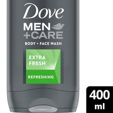 image 1 of Dove Men+Care Extra Fresh Body Face Wash 400Ml