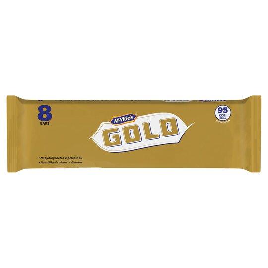 Mcvitie's Gold Bars 8 Pack 142G