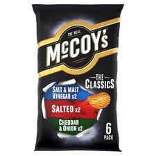 image 1 of Mccoy's Classic Variety Crisps 6X25g