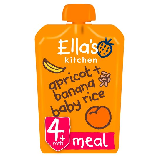 Ella's Kitchen Banana & Apricot Baby Rice 120G