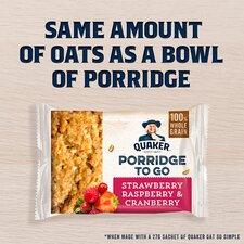 image 2 of Quaker Porridge To Go Mixed Berries 2X55g