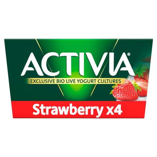 Danone Activia Strawberry Yogurt 4X125g
