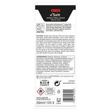 image 2 of Sure For Men Antibacterial Odour Protection Antiperspirant Deodorant 250Ml