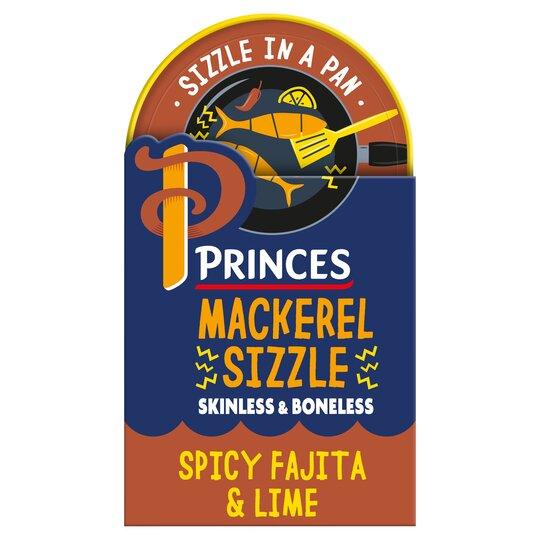 Princes Mackerel Spicy Fajita & Lime 160G