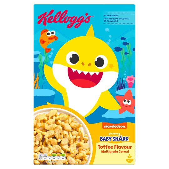 Kellogs Baby Shark Toffee Flavoured Multigrain Cereal 350G