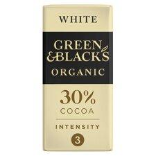 image 1 of Green & Black's Organic White Chocolate 90G