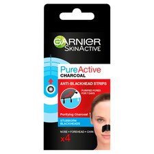 image 1 of Garnier Charcoal Anti-Blackhead Strips 4 Pack