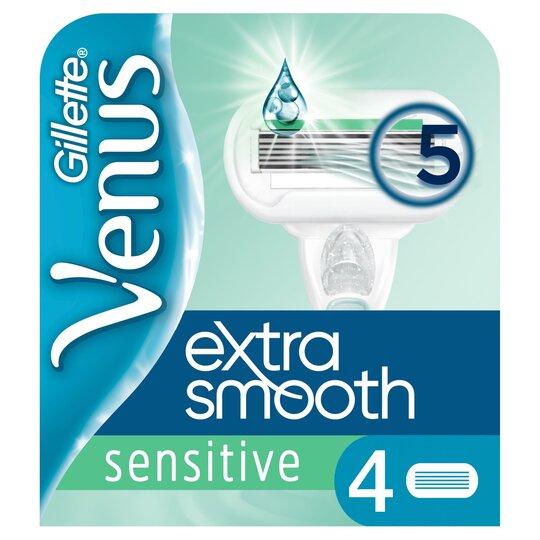 image 1 of Gillette Venus Extra Smooth Refills Razor Blades 4 Pack