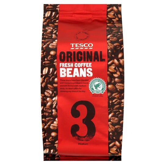 Tesco Original Coffee Beans 227g