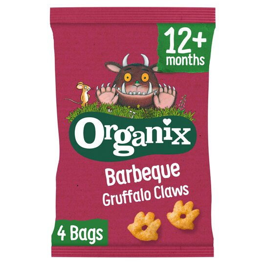image 1 of Organix Barbeque Gruffalo Claws 4X15g